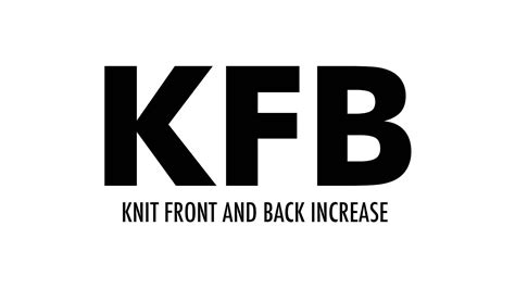 knit front and back the knit front and back increase kfb new stitch a day