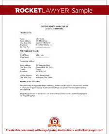 partnership agreement template form with sample