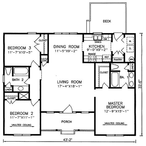 1 Level House Plans by Images About One Level Plans On Architectural 4