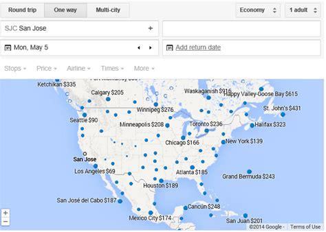 san jose flight map flights map reveals the airfare deals loyalty