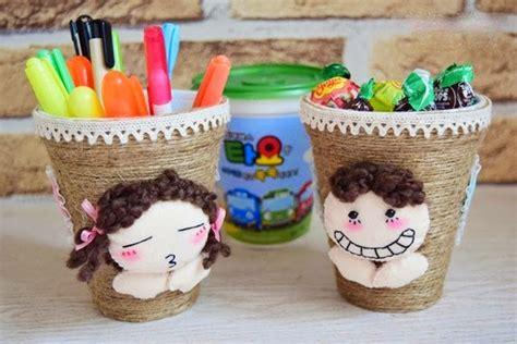 decorar vasos de plastico para cumpleaños decora unos vasos desechables con hilo costura y
