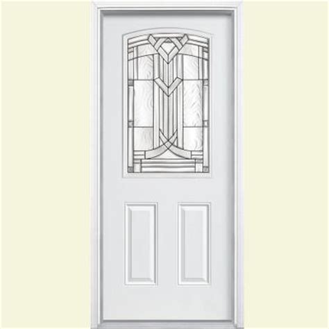 Steel Exterior Doors Home Depot by Masonite 36 In X 80 In Chatham Camber 1 2 Lite Primed