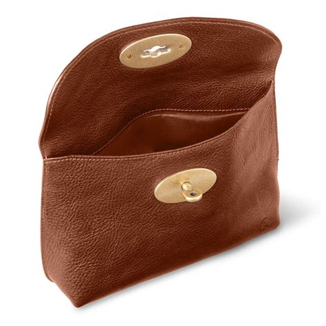 Mulberry Locked Purse by Mulberry Locked Cosmetic Purse In Brown Lyst