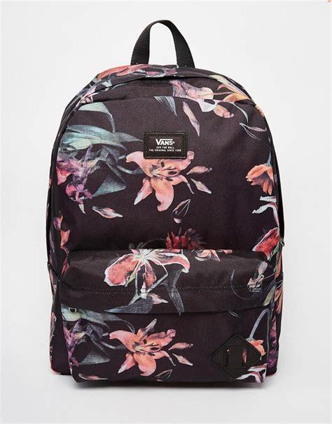 Call Me Erly Cat Backpack vans vans skool backpack in floral print at asos