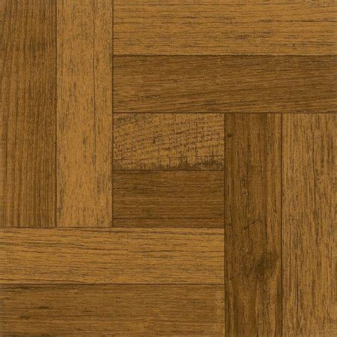 armstrong 12 in x 12 in oak parquet antique brown peel and stick vinyl tile 30 sq ft case