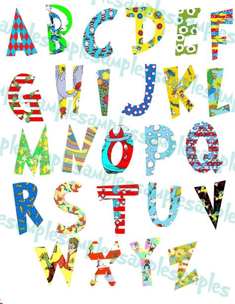dr seuss printable alphabet letters dr seuss alphabet clipart printable font alphabet