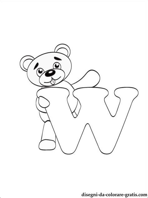 lettere dell alfabeto da colorare e stare gratis lettera w disegni da colorare disegni da colorare gratis