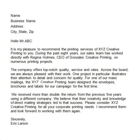 sle testimonial letter for business the best letter