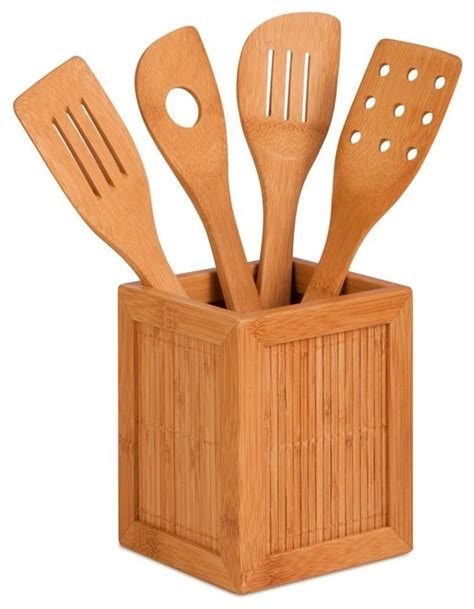 Kitchen Utensil Caddy by Bamboo Utensils And Kitchen Caddy Utensil