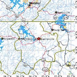 blairsville ga population data races