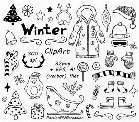 clipart inverno clipart di doodle di inverno clipart di natale disegnata