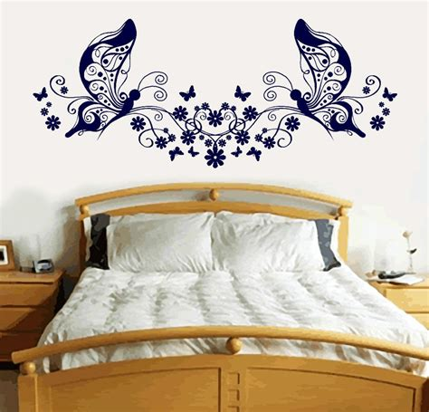 butterfly wall stickers for bedrooms butterfly love heart vinyl sticker wall art bedroom decal
