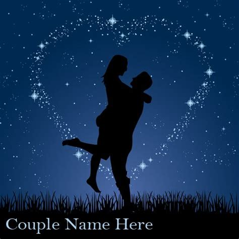 couple editing wallpaper write your name on couple love night stars background mj