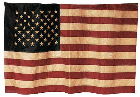 american flag home decor primitive tea dyed american flag americana decor home