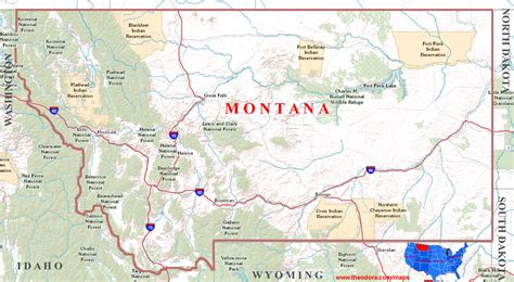 map of montana state montana maps usa maps us country maps