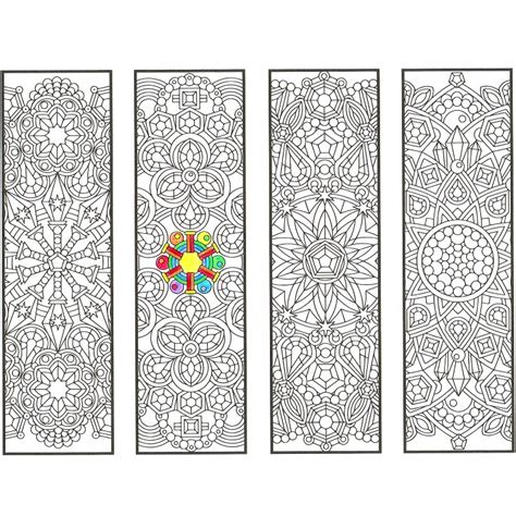 printable mandala bookmarks crystal mandala bookmarks page 1 candyhippie coloring pages