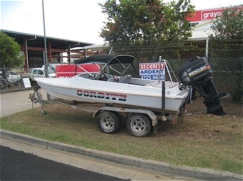 boat auctions townsville speed boat runabout macho 5 5m with 2 4l mercury townsville