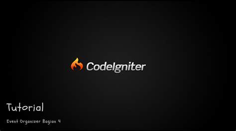 membuat website event 4 tutorial codeigniter membuat web event organizer