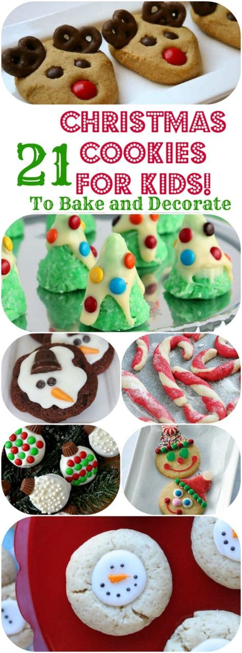 easy christmas cookie recipes for kids to bake or decorate