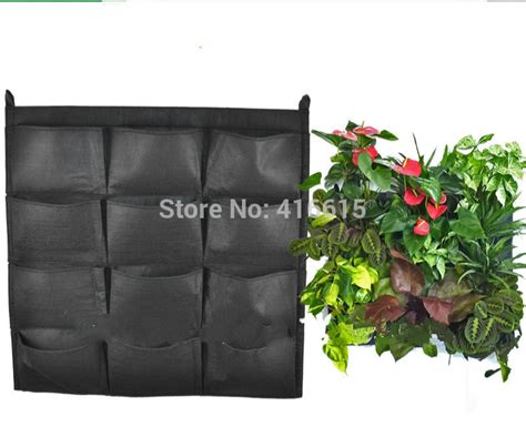 outdoor wall hanging planters recycle felt outdoor vertical gardening flower pots wall