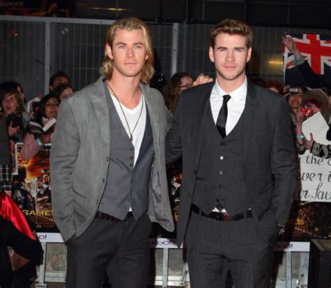 Chris Hemsworth supports his brother Liam at The Hunger ... Liam Hemsworth The Hunger Games Character