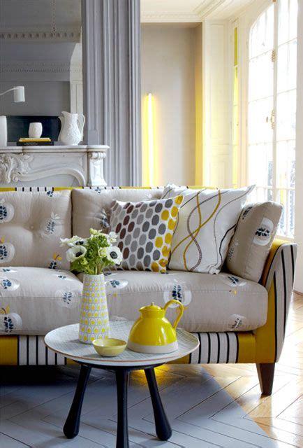 yellow pattern loveseat pierre frey french furnishing fabrics interior fabrics