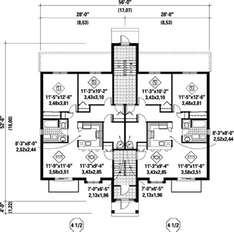 multiple family home plans multi family plan 52426 at familyhomeplans com