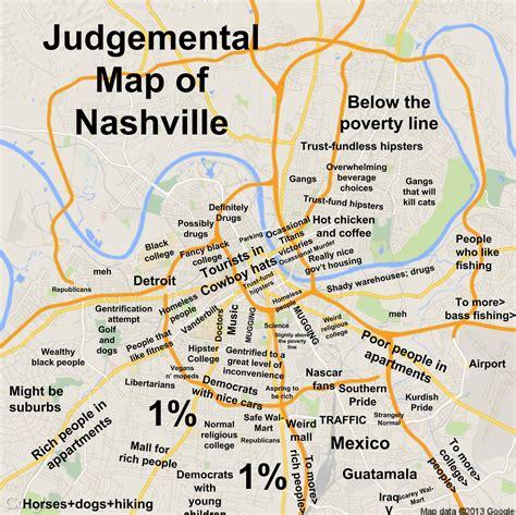 map of nashville do we need a judgmental map of spokane bloglander