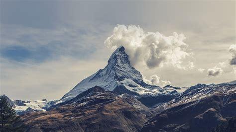 mountains clouds sky landscape mist nature