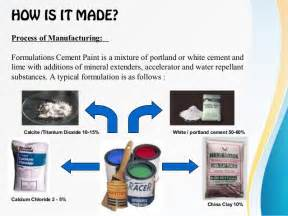 How Is Made Cement Paints