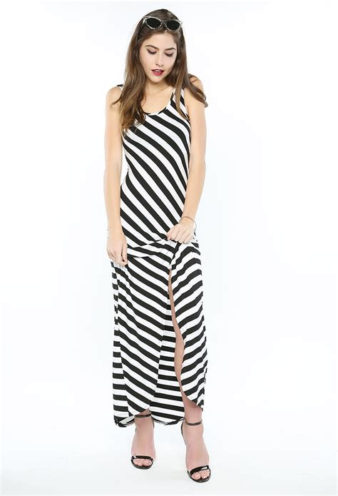 Stripe Casual Maxi 8435 74 stripe maxi dress shop day dresses at papaya clothing