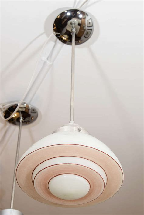 Pink Light Fixtures Pink And White Mid Century Modern Light Fixture For Sale At 1stdibs