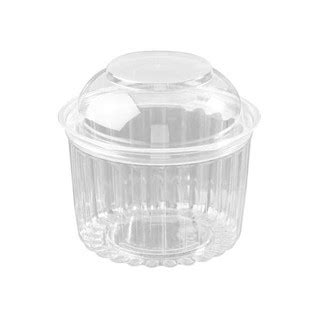 Sho Clear sho bowl 16oz with hinged dome lid of 250