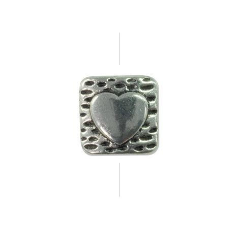 best jewelry supplies 10mm pewter square pillow with bead pewter