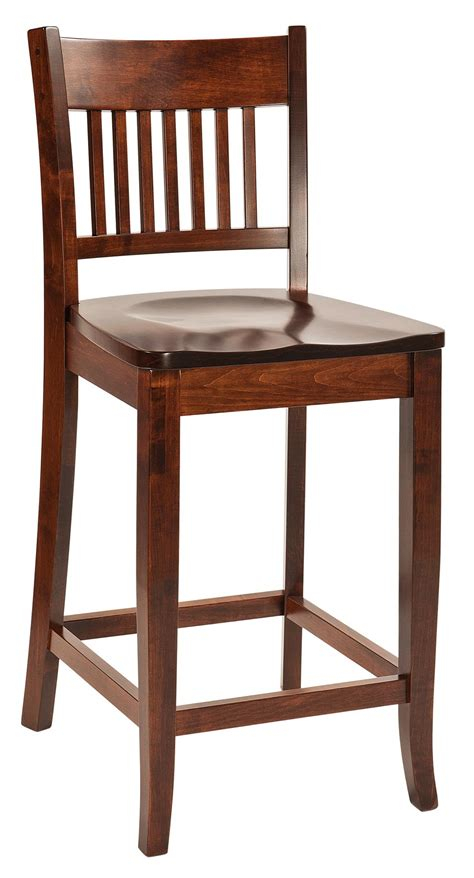 Mission Bar Stool by Frankton Mission Bar Stool From Dutchcrafters Amish Furniture