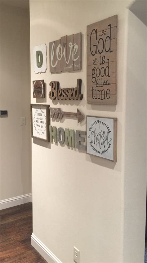 entryway wall decor love my new gallery wall found most everything at hobby