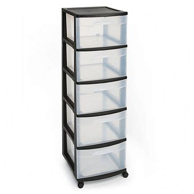 Plastic Storage Drawers Big W sterilite 174 5 drawer plastic storage cart at big lots