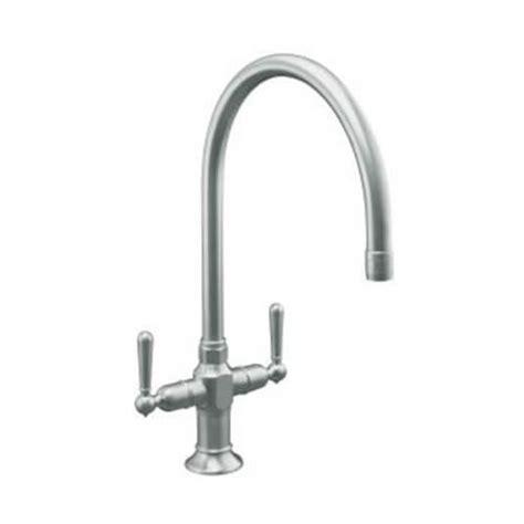 kohler gooseneck kitchen faucet k 7341 4 bs kohler k 7341 4 bs hirise kitchen sink