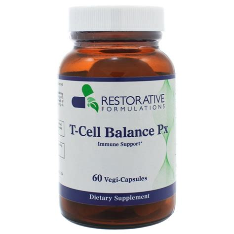 Cell Detox Supplements by Restorative Formulations T Cell Balance Px 60 Capsules
