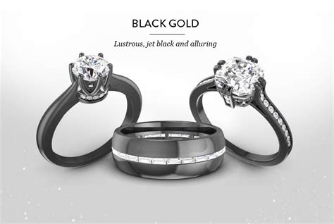 black gold rings for diamondere