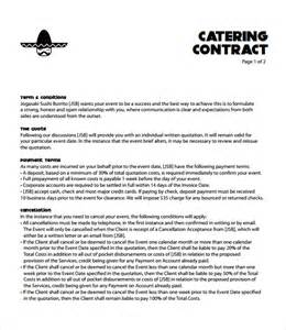 banquet contract template catering contract template 9 free documents in