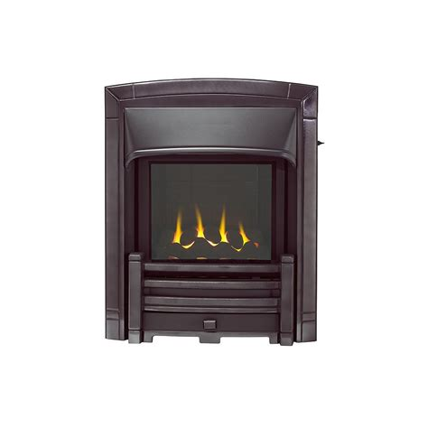 homeflame masquerade slimline gas 0596393 black nickel