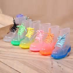 colorful booties womens sweet ankle boots toe clear color