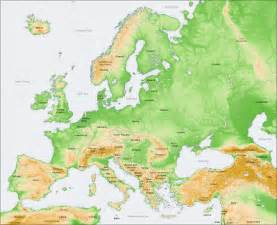 You should know the major geographical features of europe be sure you