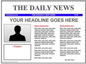Drive Newspaper Template by 3 Newspaper Templates For Teachers Educational
