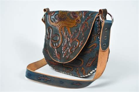 eulalee leather octopus garden hobo