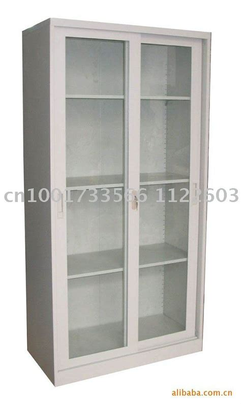 Steel Office Cabinet Storage Cabinets Glass Door Metal Storage Cabinet With Glass Doors
