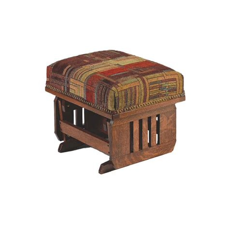 mission ottoman mission glider ottoman in solid hardwood and leather and