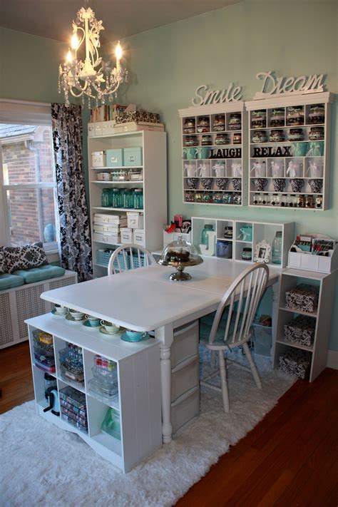office craft room remodelaholic get this look shared home office and