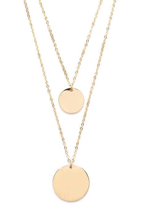 Layered Necklace circle layered necklace gold happiness boutique